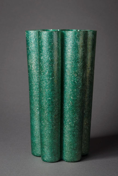 Picture of Green Lobed Vase