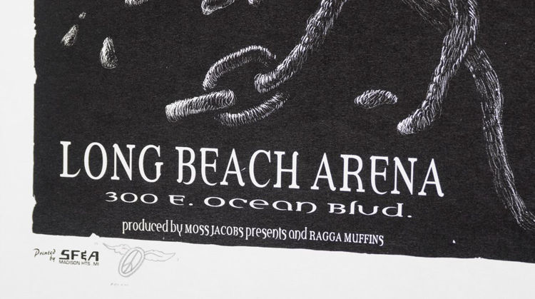 Picture of Bob Marley at Long Beach Arena