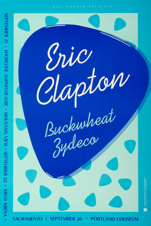 Picture of Eric Clapton and Buckwheat Zydeco