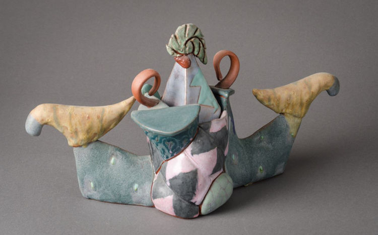 Picture of Sculptural Lidded Ceramic Container